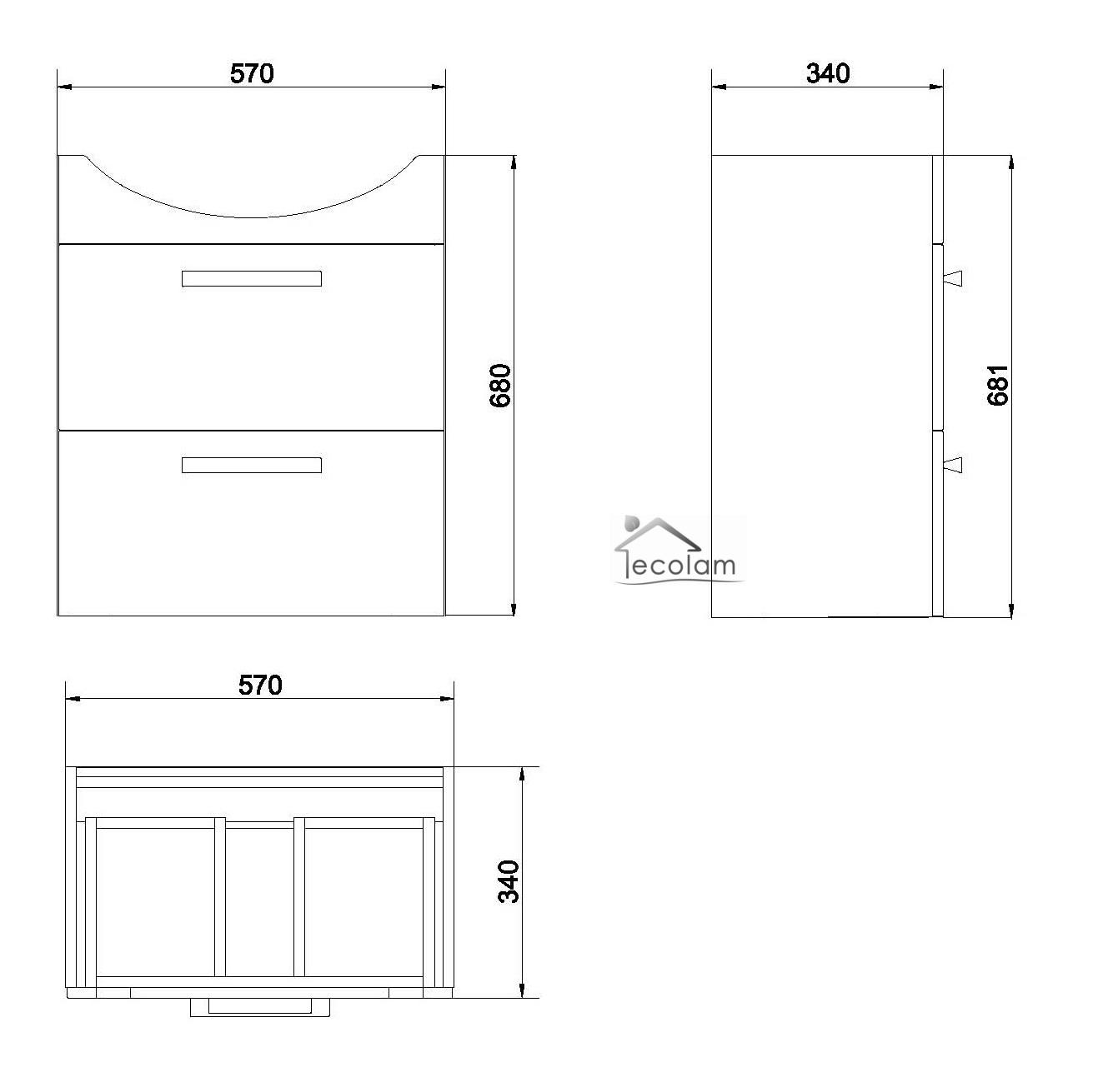 waschbeckenunterschrank stehend mit schubladen. Black Bedroom Furniture Sets. Home Design Ideas