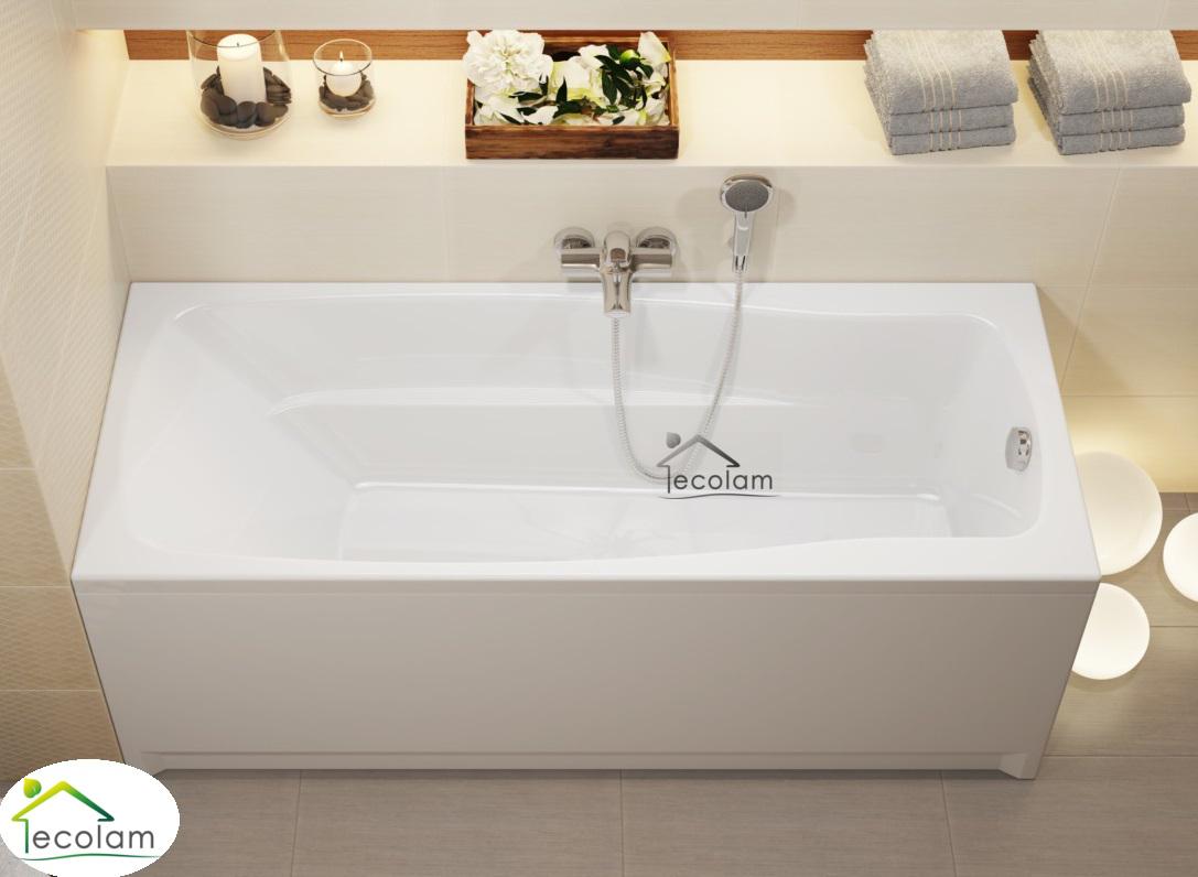 badewanne wanne rechteck 170 x 70 cm ohne mit sch rze ablauf acryl cersanit l ebay. Black Bedroom Furniture Sets. Home Design Ideas