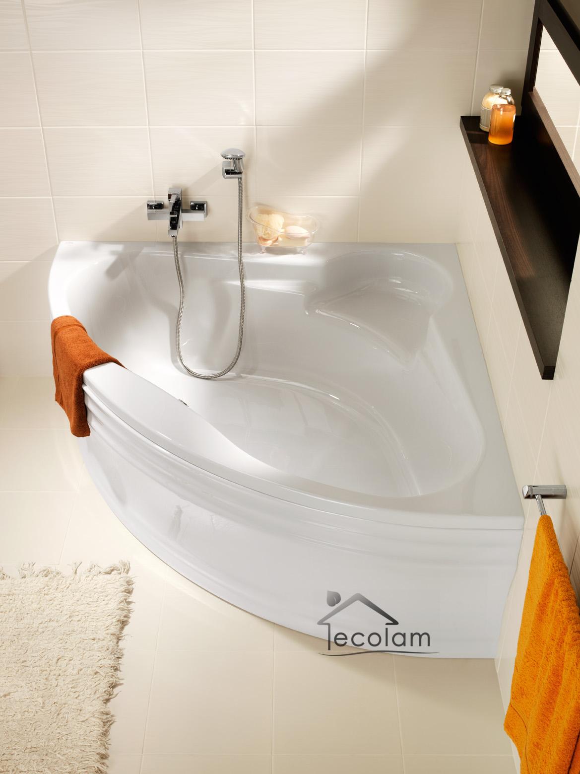 badewanne wanne eckbadewanne 140x140 150x150 cm sch rze sitz ab ber cersanit ebay. Black Bedroom Furniture Sets. Home Design Ideas
