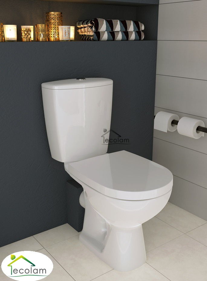 wc toilette stand tiefsp ler bodenstehend sp lkasten keramik sitz cersanit ae. Black Bedroom Furniture Sets. Home Design Ideas