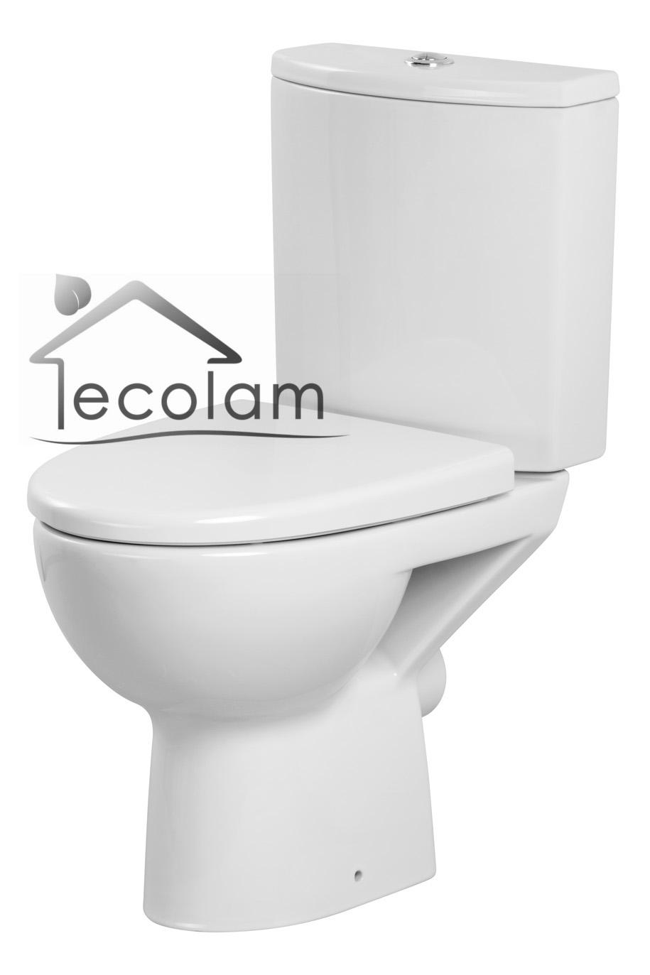 wc toilette stand tiefsp ler bodenstehend sp lkasten sitz soft close cersanit ebay. Black Bedroom Furniture Sets. Home Design Ideas