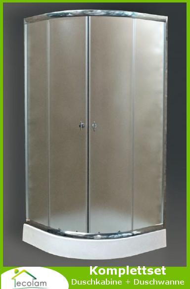 Ablaufgarnitur Dusche Reinigen : Duschkabine + Duschwanne Dusche Echtglas strukturiert 80 x 80 x 180 cm