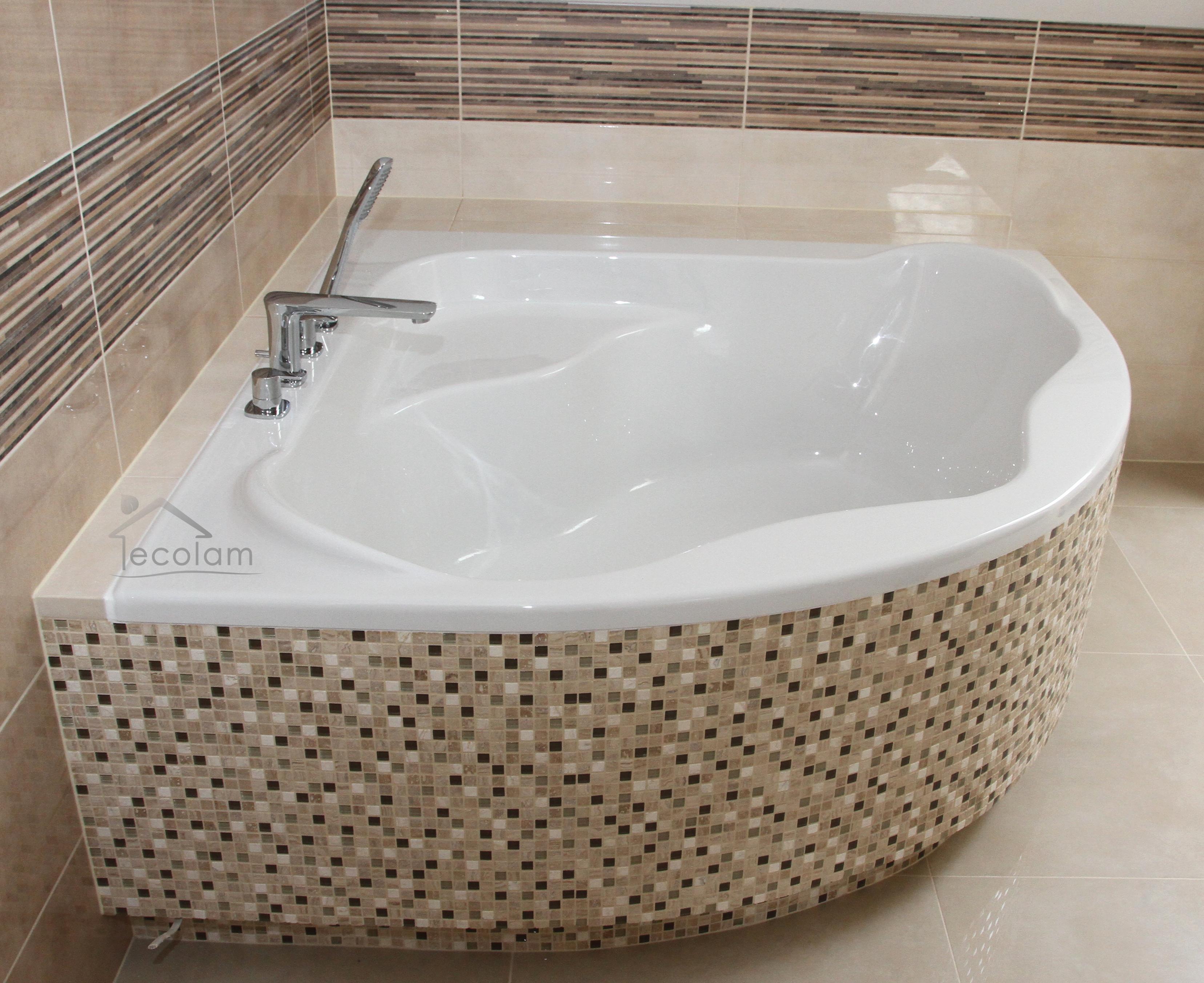 badewanne eckbadewanne 140 x 140 cm wannentr ger f e. Black Bedroom Furniture Sets. Home Design Ideas