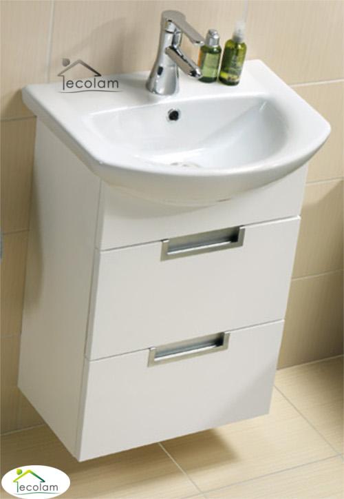 badm bel waschbecken 50 cm waschtisch waschbeckenunterschrank schubladen d l ebay. Black Bedroom Furniture Sets. Home Design Ideas