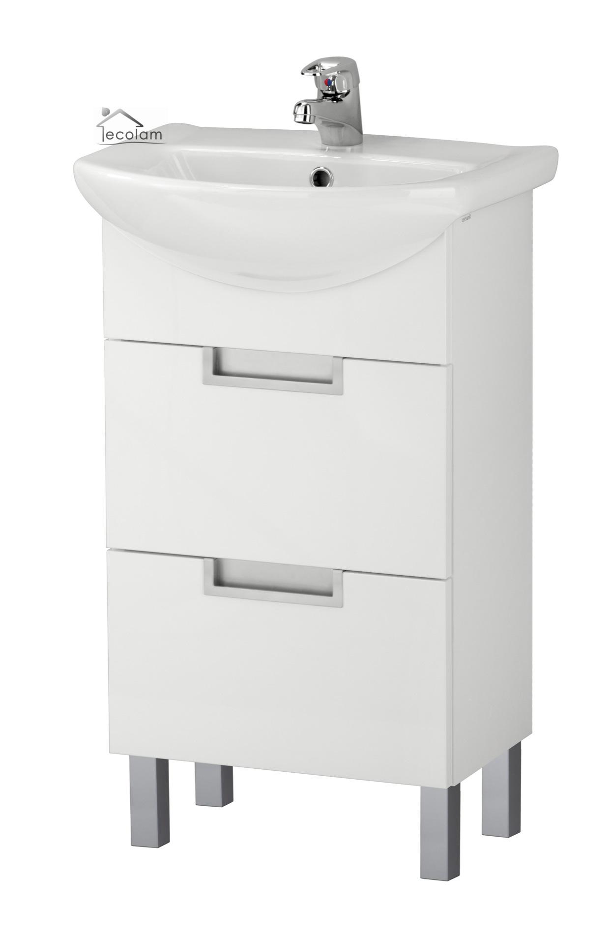 badm bel waschbecken 50 cm waschtisch waschbeckenunterschrank schubladen d l. Black Bedroom Furniture Sets. Home Design Ideas