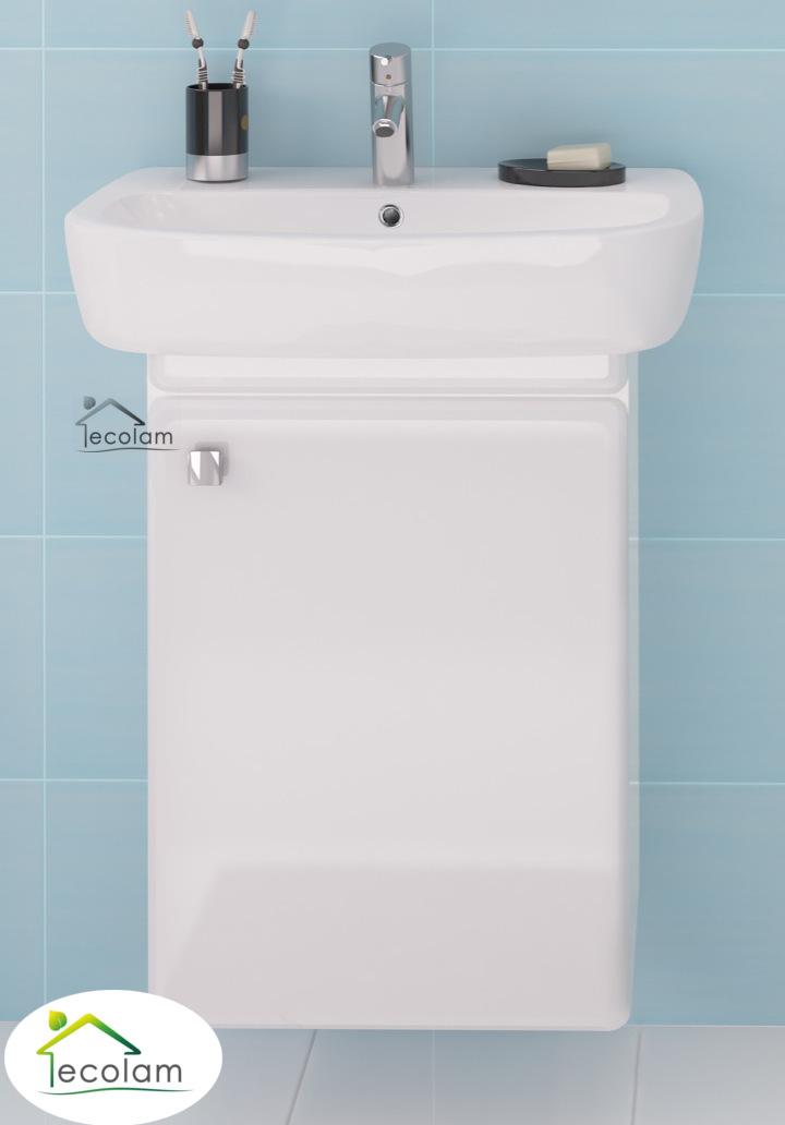 badm bel waschbecken 60 cm waschtisch waschbeckenunterschrank wei h ngend i f ebay. Black Bedroom Furniture Sets. Home Design Ideas