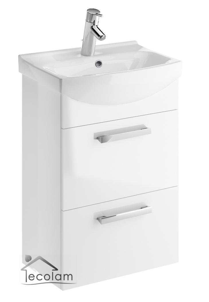 badm bel waschbecken 50 cm h ngend waschbeckenunterschrank schubladen m c ebay. Black Bedroom Furniture Sets. Home Design Ideas