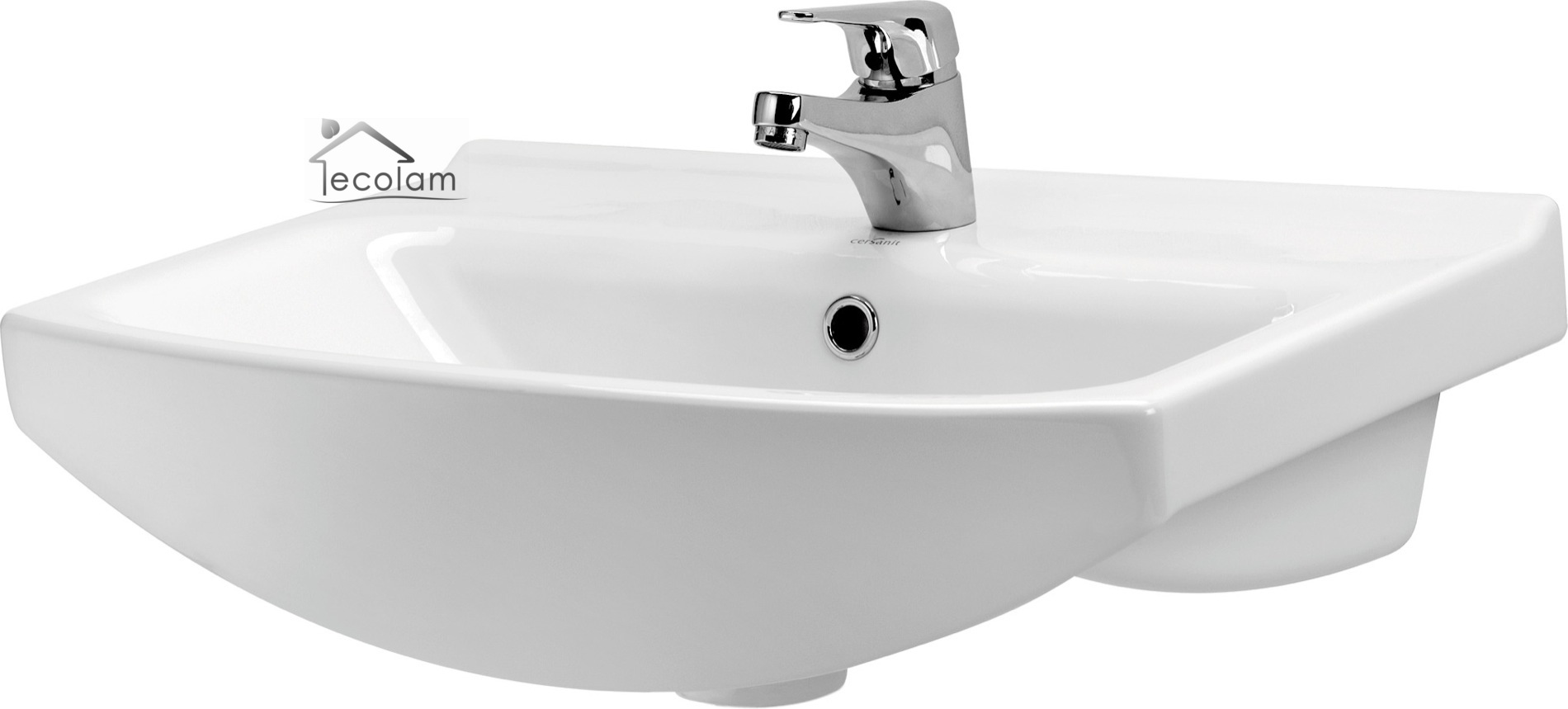 Badmöbel Waschbecken 55 cm hängend Waschbeckenunterschrank ... | {Bad unterschrank mit schubladen hängend 82}