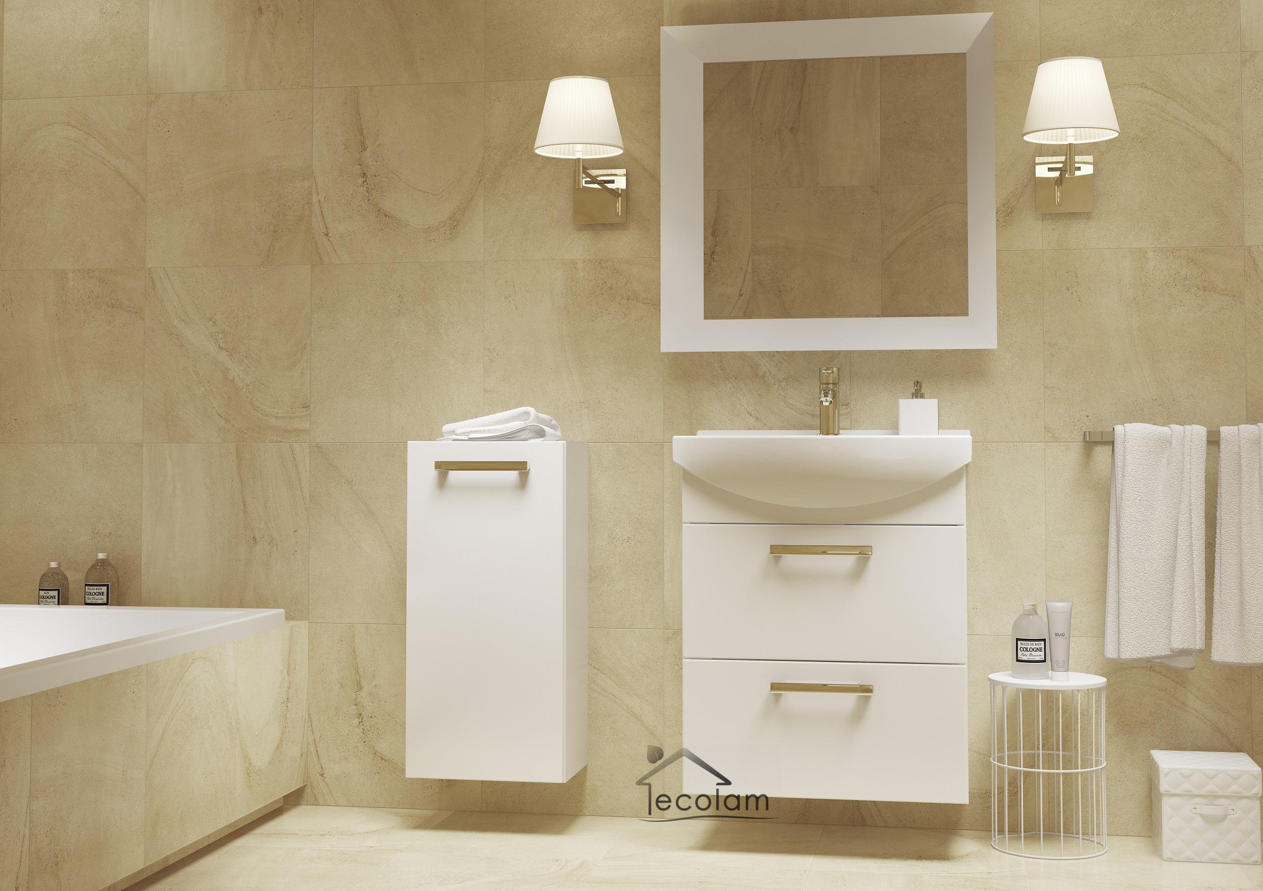 Waschbeckenunterschrank hängend  Badmöbel Waschbecken 55 cm hängend Waschbeckenunterschrank ...
