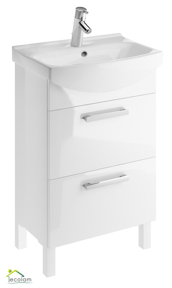 badm bel waschbecken 55 cm stehend f e waschbeckenunterschrank schubladen m c. Black Bedroom Furniture Sets. Home Design Ideas