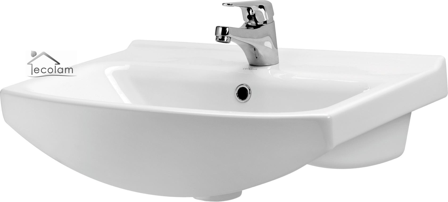 badm bel waschbecken 55 cm waschtisch waschbeckenunterschrank wei cersanit c o ebay. Black Bedroom Furniture Sets. Home Design Ideas