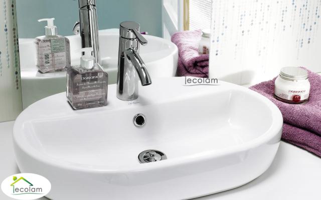 Aufsatzwaschbecken oval mit hahnloch  Aufsatzwaschbecken 60 x 42 cm Waschtisch Waschbecken weiß ...