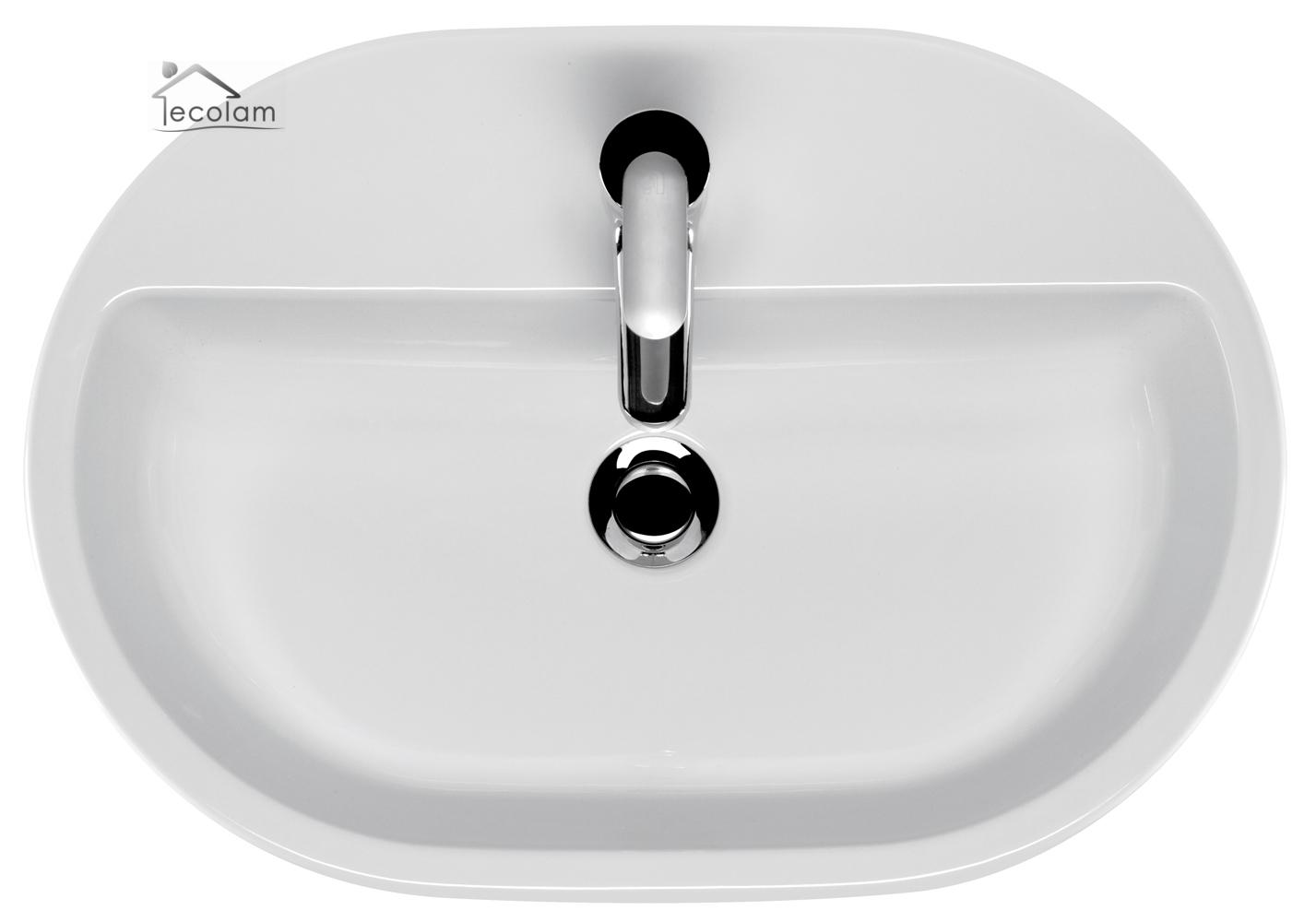 aufsatzwaschbecken 60 x 42 cm waschtisch waschbecken wei aufsatzwaschtisch oval ebay. Black Bedroom Furniture Sets. Home Design Ideas