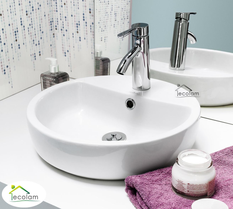 aufsatzwaschbecken 44 cm waschtisch waschbecken wei aufsatzwaschtisch rund ebay. Black Bedroom Furniture Sets. Home Design Ideas