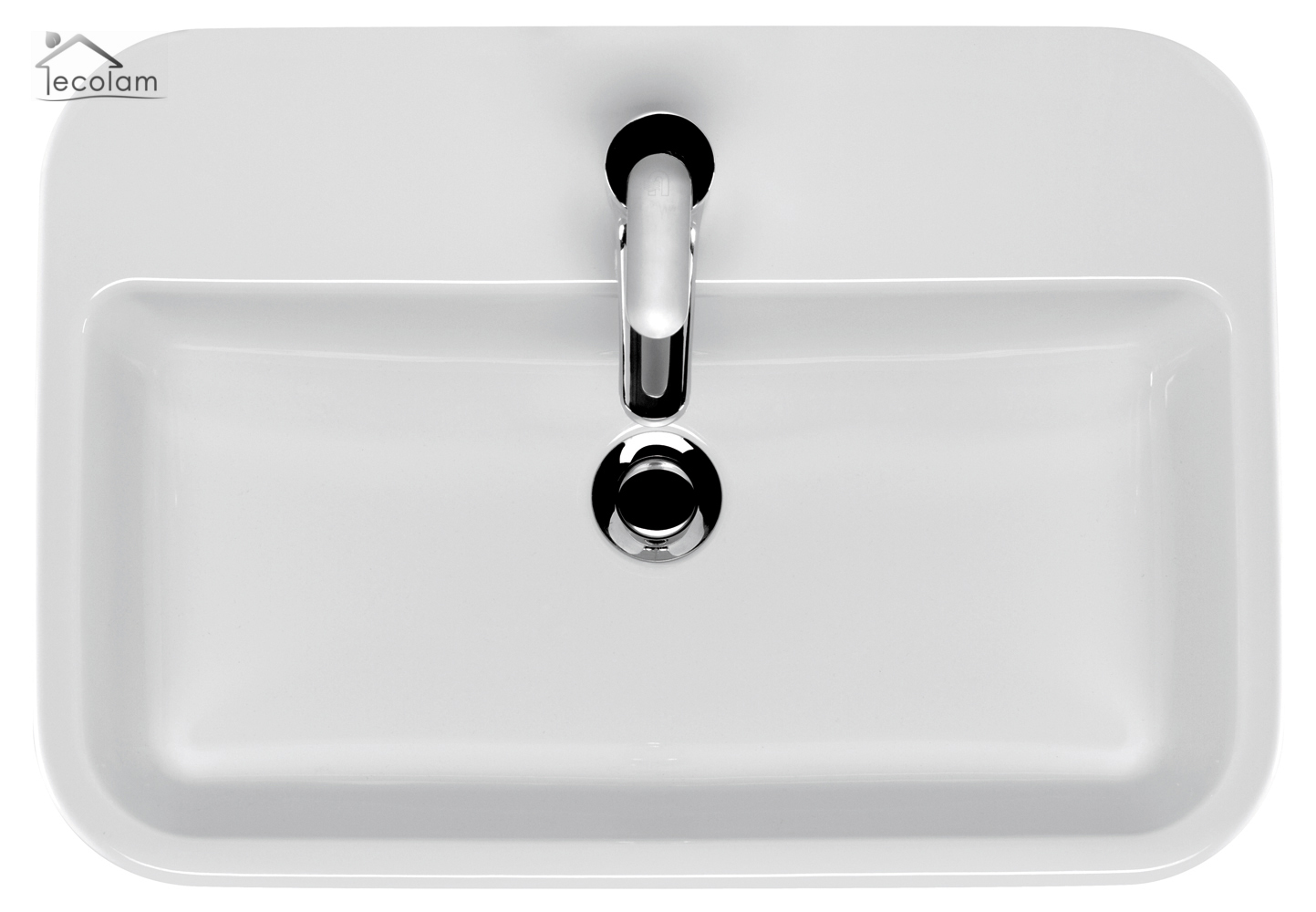 aufsatzwaschbecken 60 x 42 cm waschtisch waschbecken aufsatzwaschtisch eckig ebay. Black Bedroom Furniture Sets. Home Design Ideas
