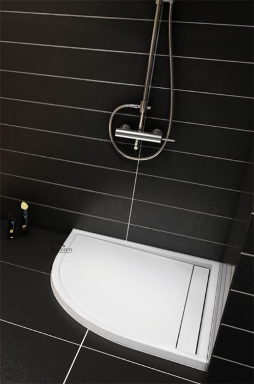 duschwanne duschtasse viertelkreis high quality 90 x 90 x 5 x 1 5 cm flach ajax ebay. Black Bedroom Furniture Sets. Home Design Ideas