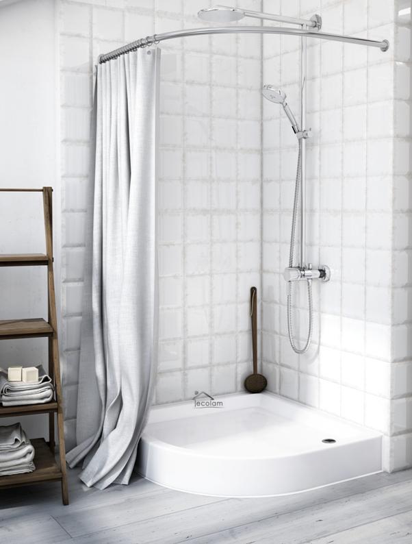duschwanne duschtasse ablauf viertelkreis flach 80 x 80 x 16cm r 55 cm eco ebay. Black Bedroom Furniture Sets. Home Design Ideas