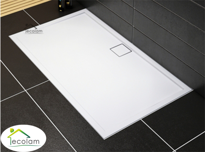 duschwanne duschtasse rechteck high quality 80 x 100 x 5 5 x 1 8 cm flach omega ebay. Black Bedroom Furniture Sets. Home Design Ideas