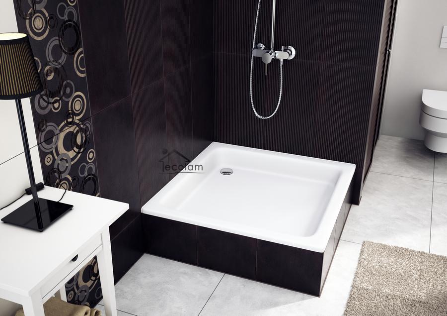 duschwanne duschtasse mit tr ger viereck acryl 80 x 80 x 26 x 12 cm befliesbar ebay. Black Bedroom Furniture Sets. Home Design Ideas