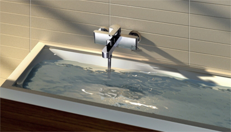 set komplette badewannenarmatur handbrause badewanne chrom aufputz armatur co ebay. Black Bedroom Furniture Sets. Home Design Ideas
