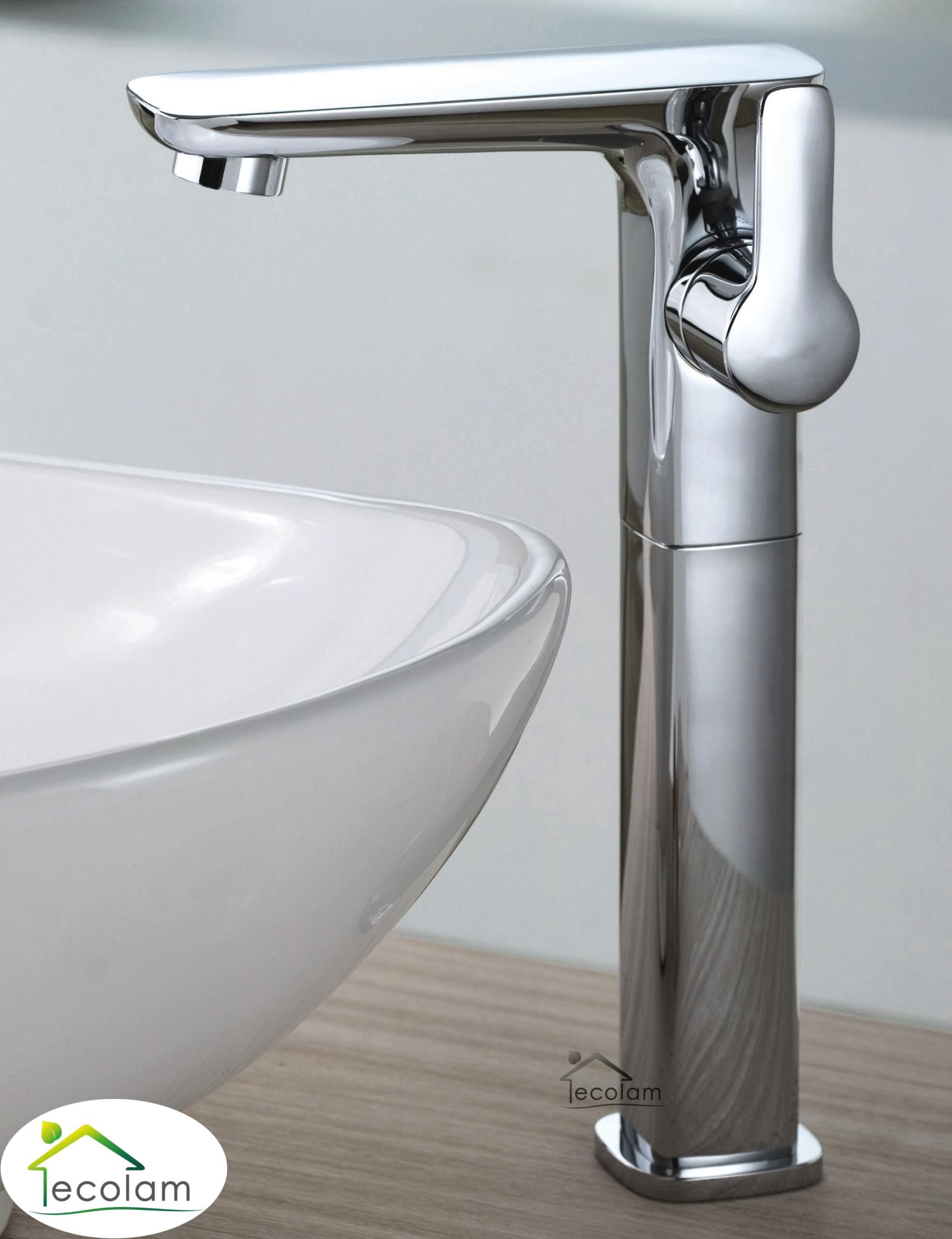 waschtischarmatur einhebelmischer aufsatzbecken chrom stand armatur hoch hu ebay. Black Bedroom Furniture Sets. Home Design Ideas