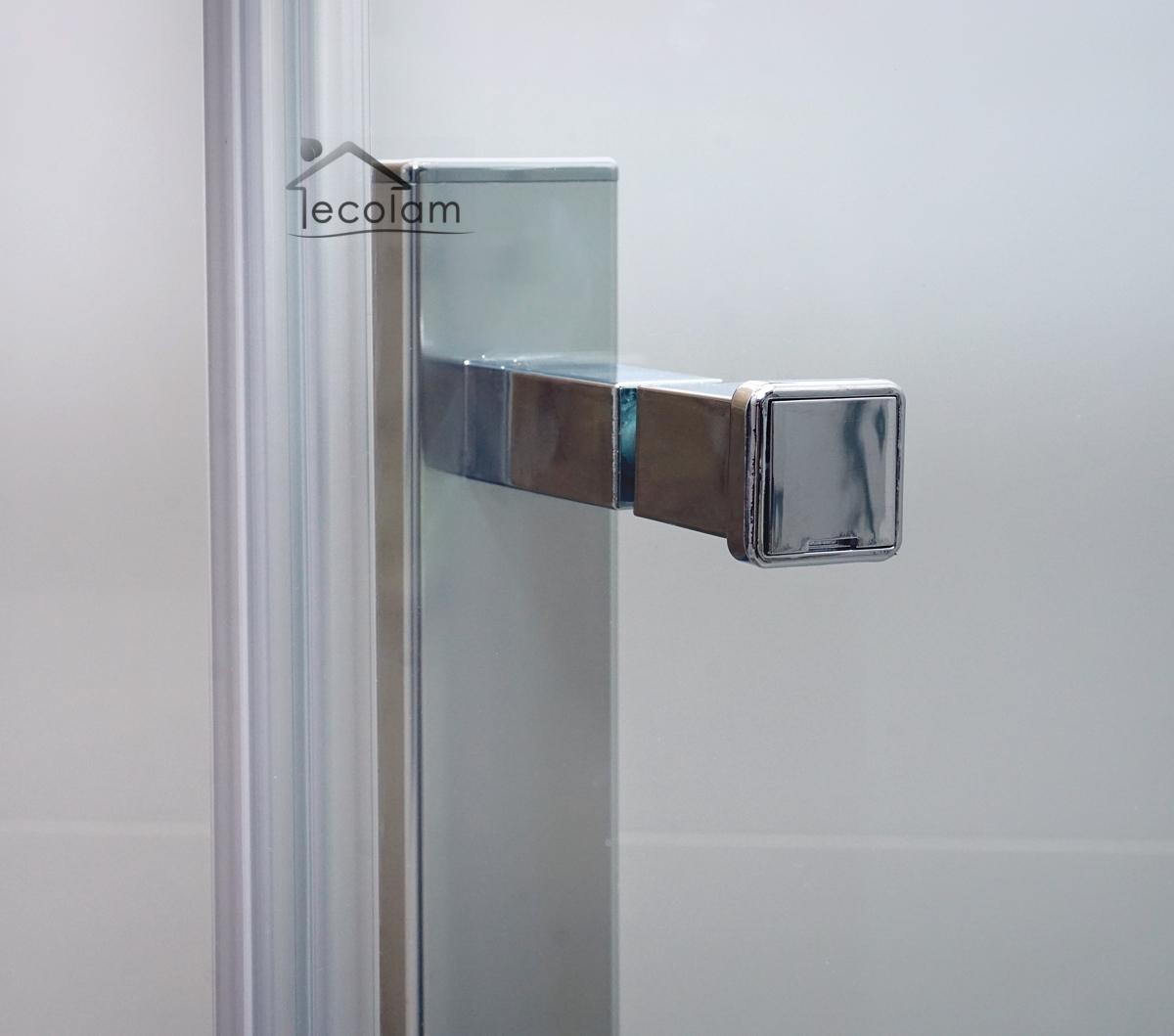 duschkabine duschabtrennung klarglas glas 100 x 100 195 cm viereck easy clean m ebay. Black Bedroom Furniture Sets. Home Design Ideas