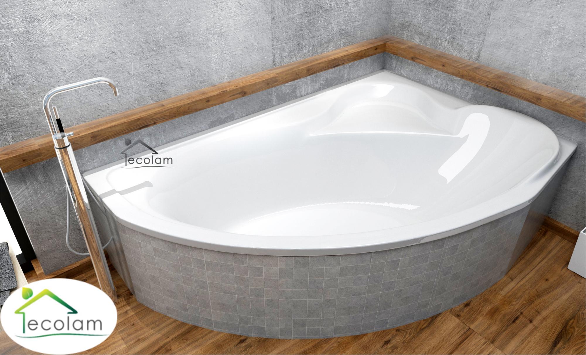 badewanne eckbadewanne acryl ablauf 166 x 107 cm ohne mit wannentr ger rechts ebay. Black Bedroom Furniture Sets. Home Design Ideas
