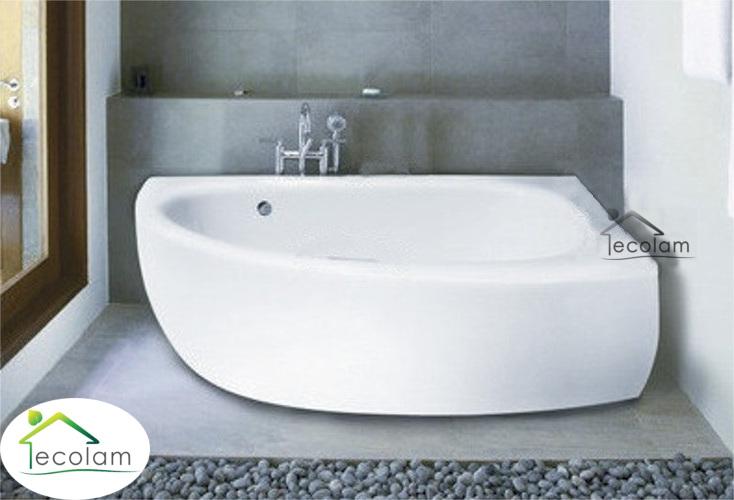 badewanne wanne eckwanne 150 x 70 cm sch rze ablauf silikon rechts milena ebay. Black Bedroom Furniture Sets. Home Design Ideas