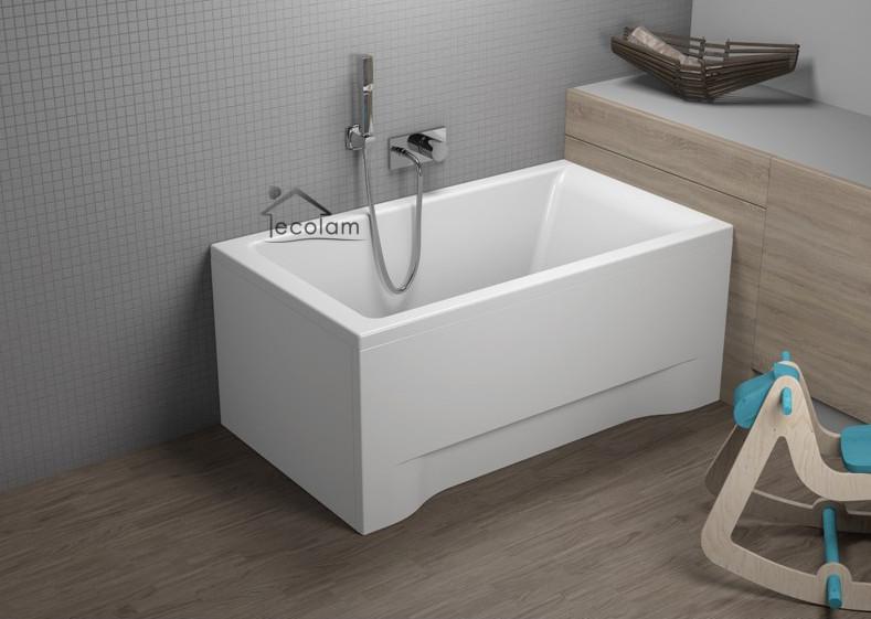 badewanne wanne rechteck 100 x 70 cm acryl ohne mit sch rze ablauf f e ebay. Black Bedroom Furniture Sets. Home Design Ideas