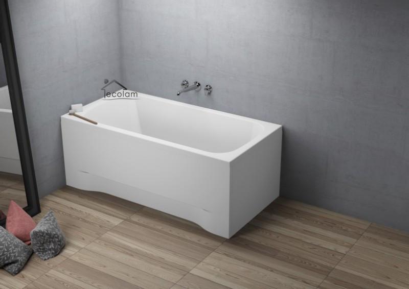 badewanne wanne rechteck eckwanne 120 x 70 cm ohne mit sch rze acryl ablauf. Black Bedroom Furniture Sets. Home Design Ideas