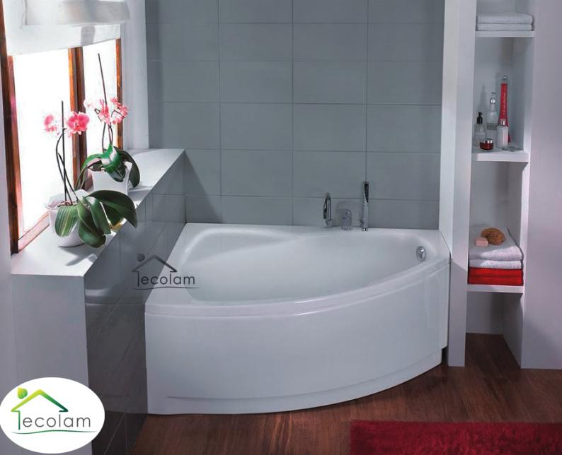 badewanne wanne eckbadewanne 140 x 90 cm sch rze ablauf. Black Bedroom Furniture Sets. Home Design Ideas