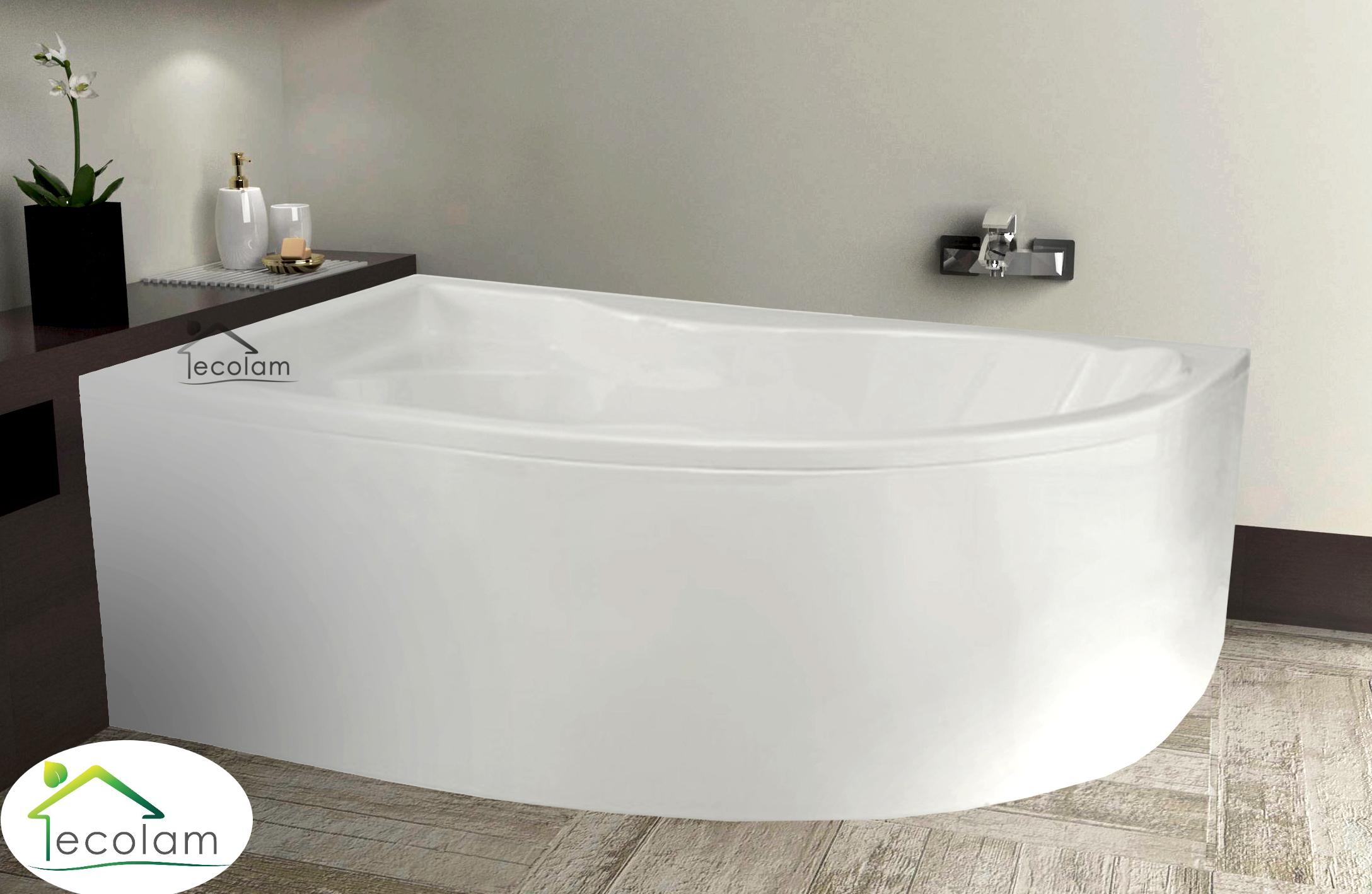 badewanne wanne eckbadewanne 170 x 110 cm sch rze ablauf. Black Bedroom Furniture Sets. Home Design Ideas