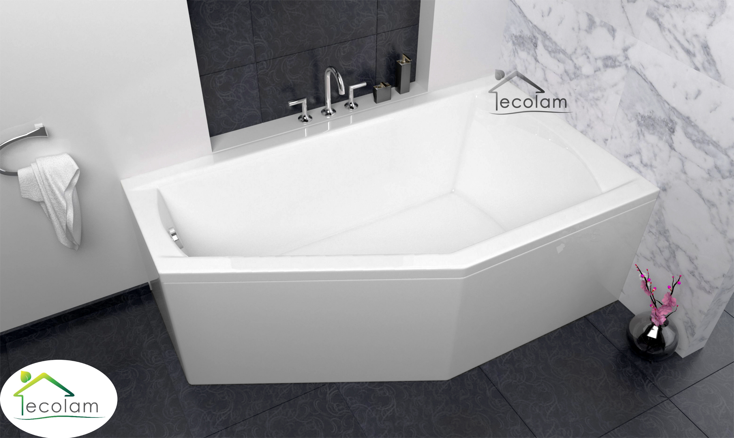 badewanne eckbadewanne acryl 160 x 90 cm sch rze ablauf silikon f e rechts s ebay. Black Bedroom Furniture Sets. Home Design Ideas