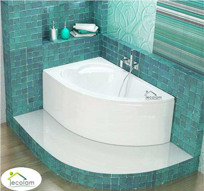 badewanne eckbadewanne 130 x 85 cm sch rze wannentr ger f e ablauf links. Black Bedroom Furniture Sets. Home Design Ideas