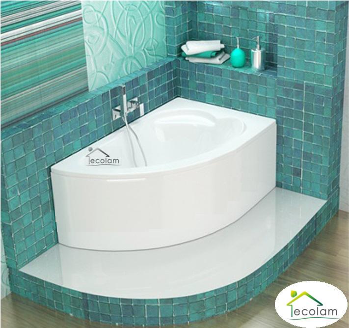 badewanne eckbadewanne acryl 130 x 85 cm mit ohne sch rze ablauf f e rechts ebay. Black Bedroom Furniture Sets. Home Design Ideas