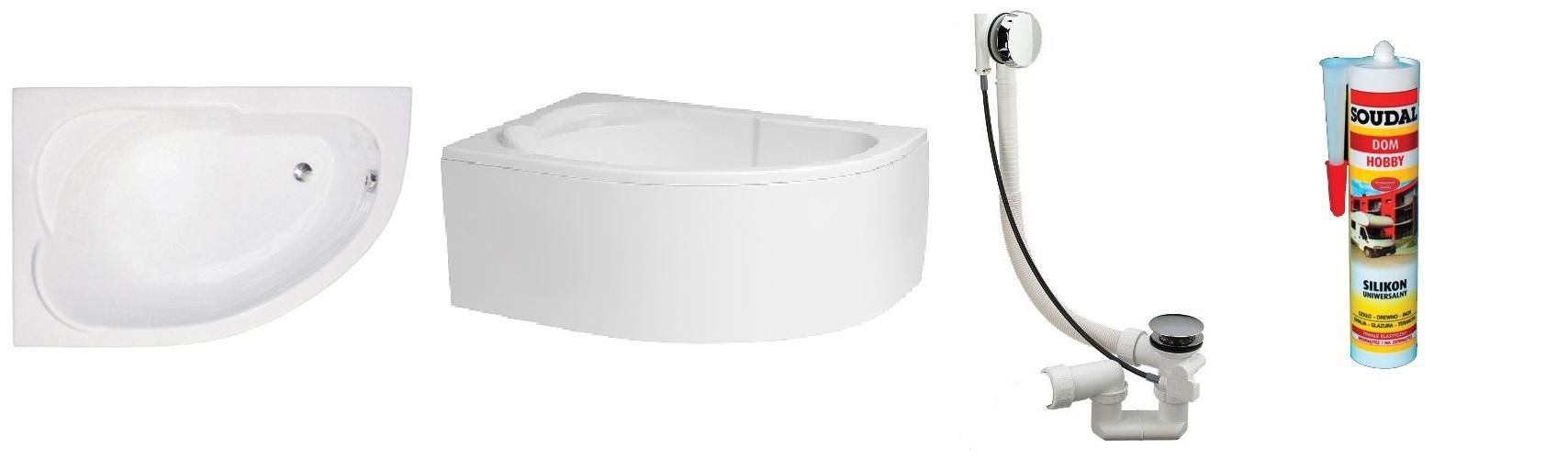 Badewanne eckbadewanne acryl 130 x 85 cm mit ohne for Fenetre 85 x 130