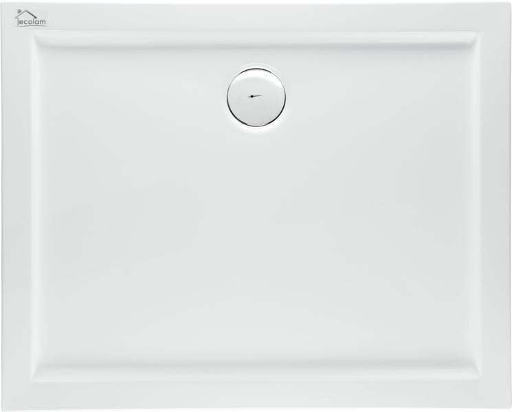 duschwanne duschtasse rechteck flach acryl 110 x 90 x 5 5 x 3 cm ablauf silikon ebay. Black Bedroom Furniture Sets. Home Design Ideas