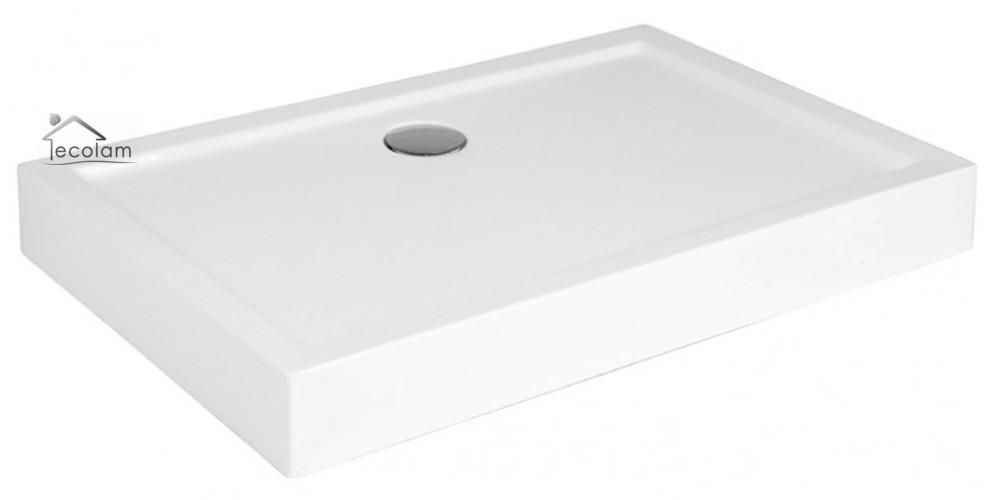 duschwanne duschtasse dusche rechteck 120 x 80 x 14 x 3 cm ablauf f e silikon ebay. Black Bedroom Furniture Sets. Home Design Ideas