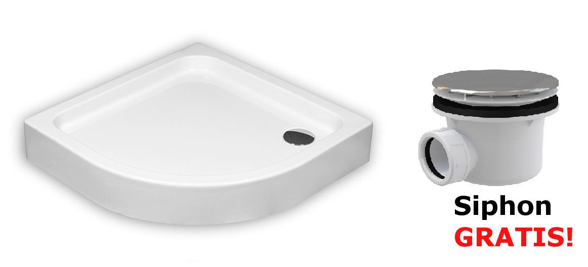 duschwanne duschtasse viertelkreis 80x80 90x90 x 17 x 7 cm r55 sch rze ablauf. Black Bedroom Furniture Sets. Home Design Ideas