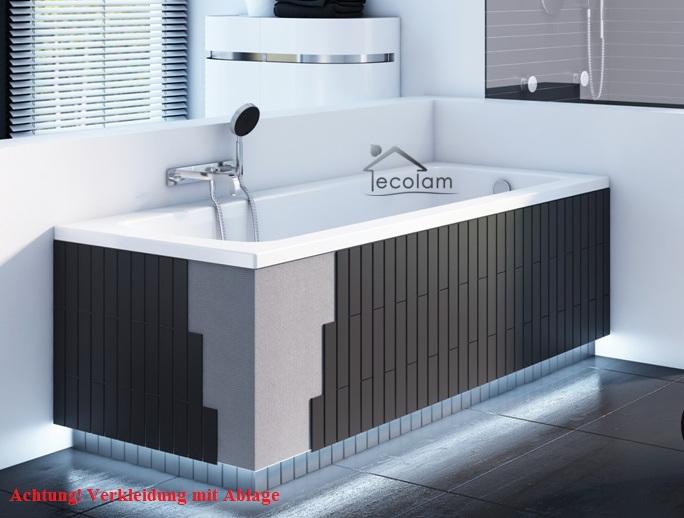led styroporverkleidung f r eckige badewannen mit ablage verkleidung befliesbar ebay. Black Bedroom Furniture Sets. Home Design Ideas