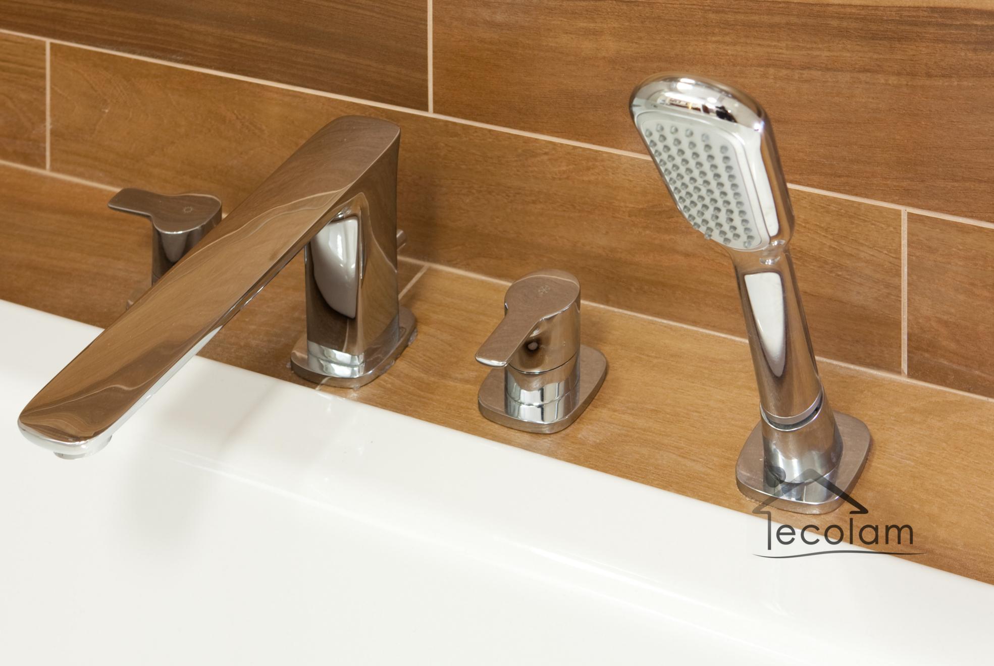 set badewannenarmatur handbrause badewanne langer auslauf wannenrand 4 loch hu ebay. Black Bedroom Furniture Sets. Home Design Ideas
