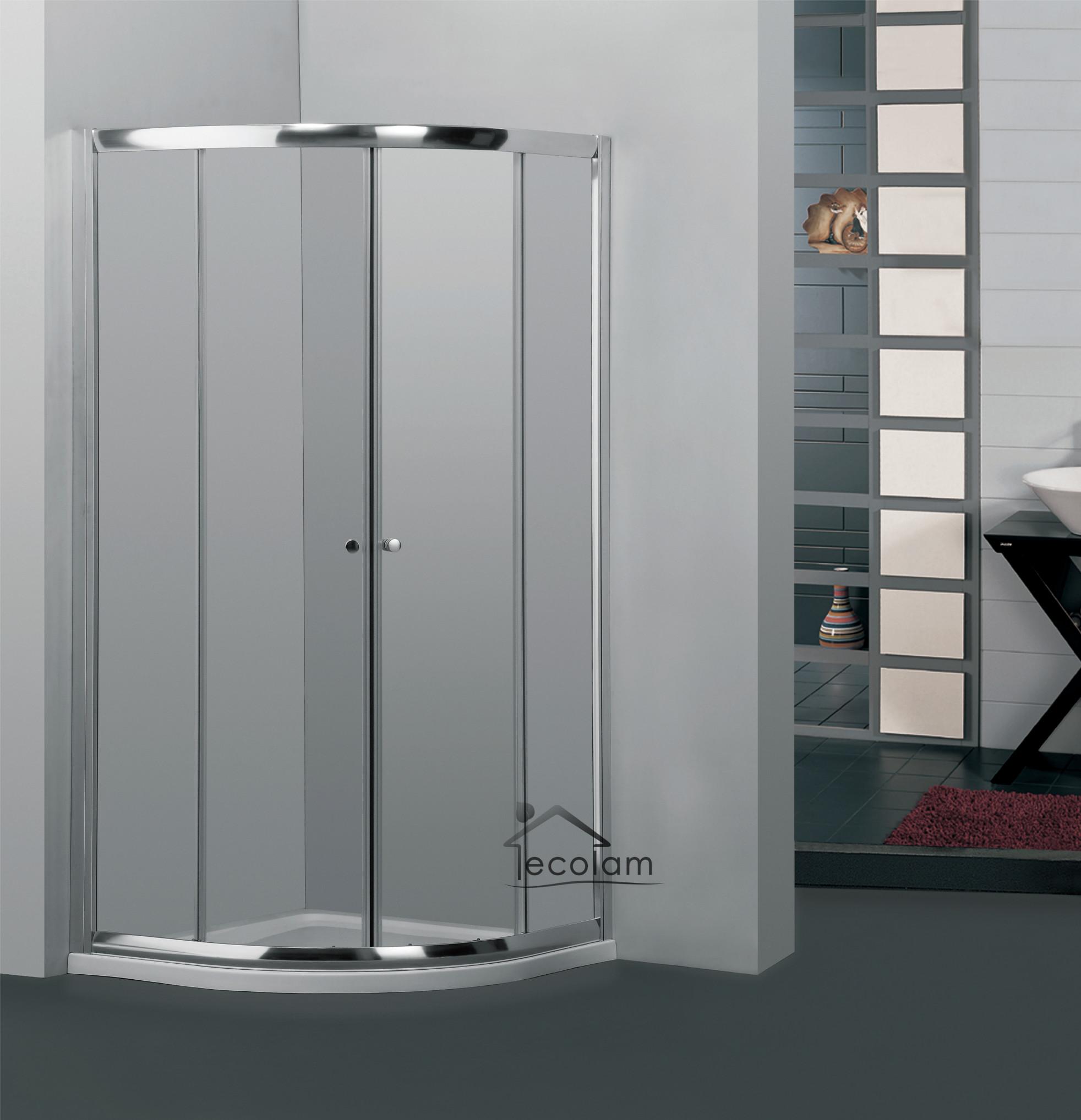 duschkabine duschabtrennung viertelkreis glas 80x80 185 cm r55 transparent br ebay. Black Bedroom Furniture Sets. Home Design Ideas