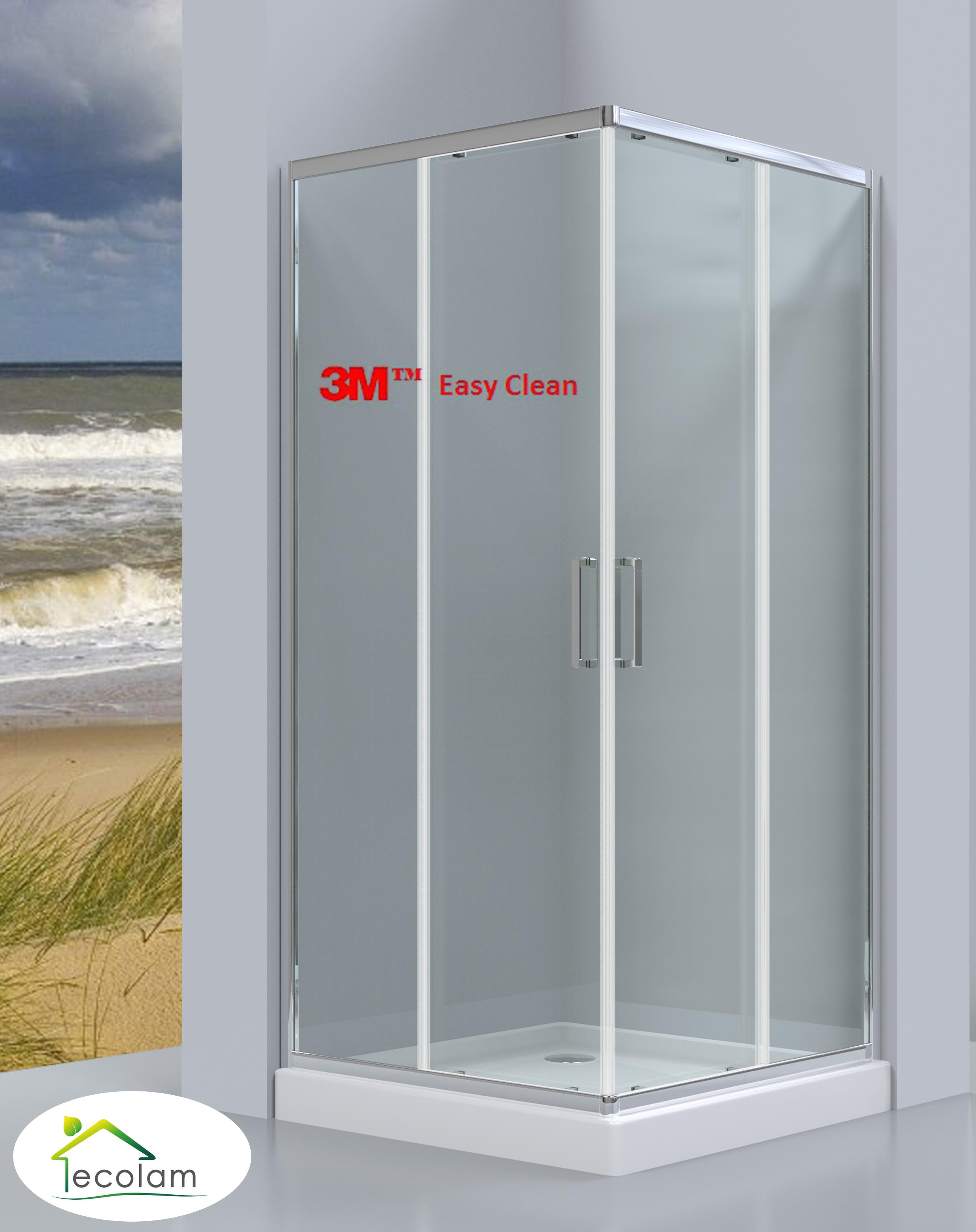 duschkabine duschabtrennung viereck glas easy clean 80x80 190 cm transparent ch. Black Bedroom Furniture Sets. Home Design Ideas