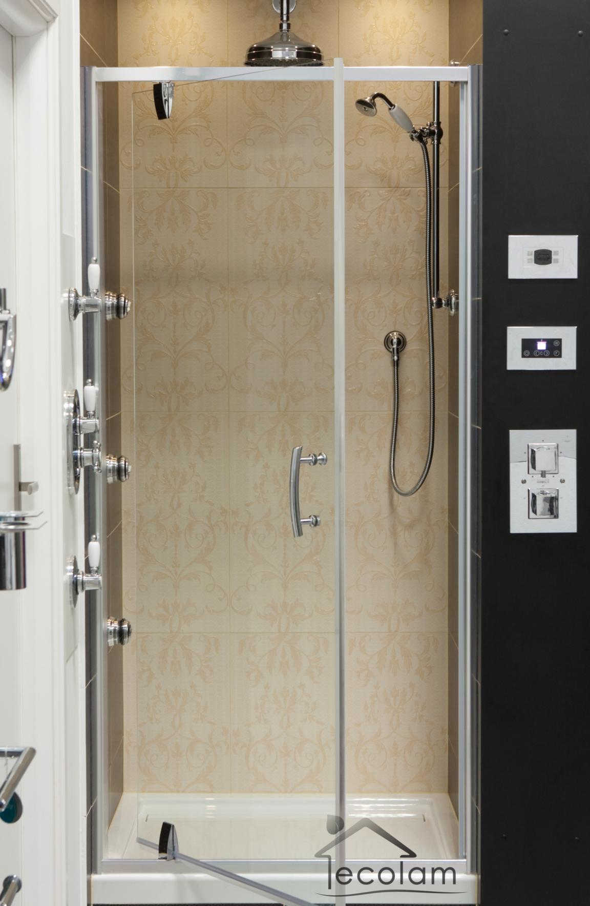 duschabtrennung t r nischent r schwingt r nische dusche glast r 90 x 185 cm s ebay. Black Bedroom Furniture Sets. Home Design Ideas