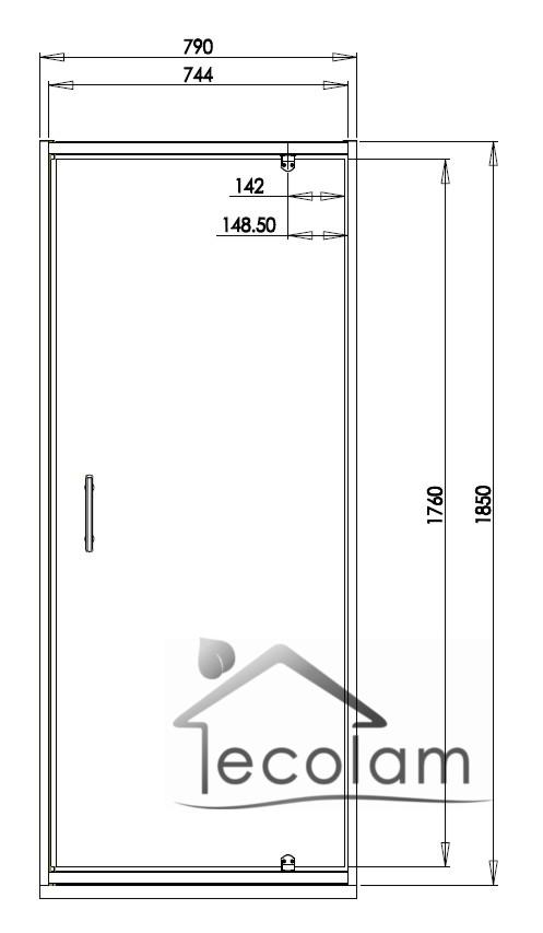 schwingt r nische dusche glast r abtrennung 80 x 185 cm s klar bronze graphit ebay. Black Bedroom Furniture Sets. Home Design Ideas