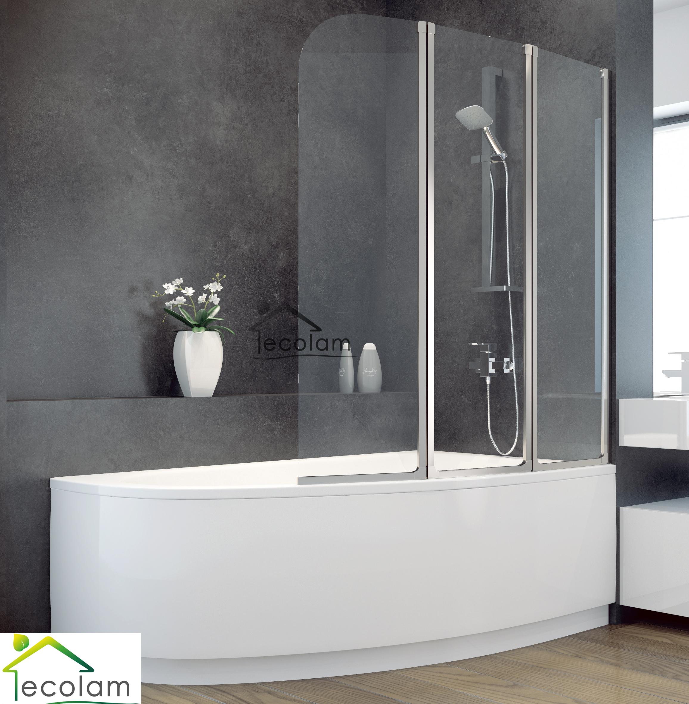 badewanne badewannenabtrennung duschwand glas eckwanne 140 x 80 cm rechts ebay. Black Bedroom Furniture Sets. Home Design Ideas