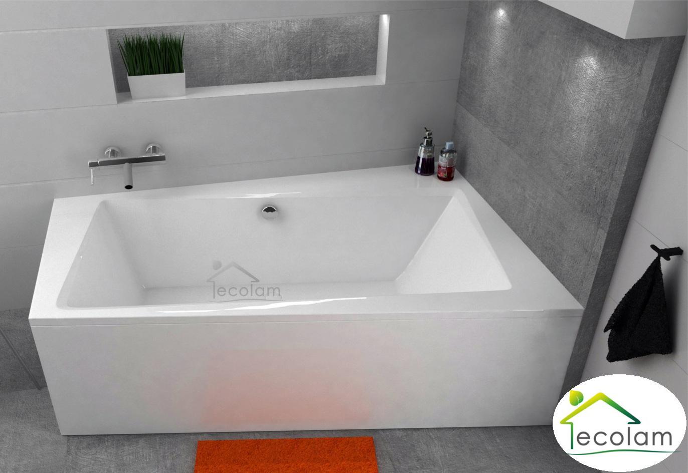 badewanne trapez eckwanne 150 x 90 160 x 100 170 x 110 cm sch rze ablauf rechts. Black Bedroom Furniture Sets. Home Design Ideas