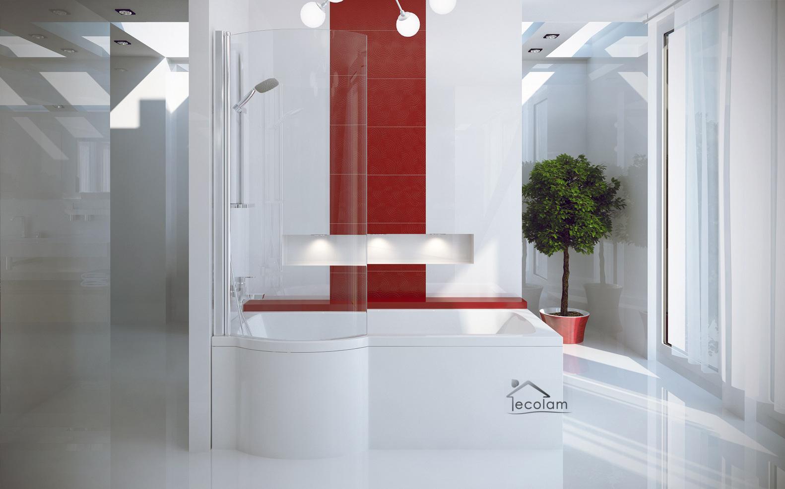 badewanne badewannenabtrennung duschwand eckwanne rechteck 160 x 70 cm links ebay. Black Bedroom Furniture Sets. Home Design Ideas