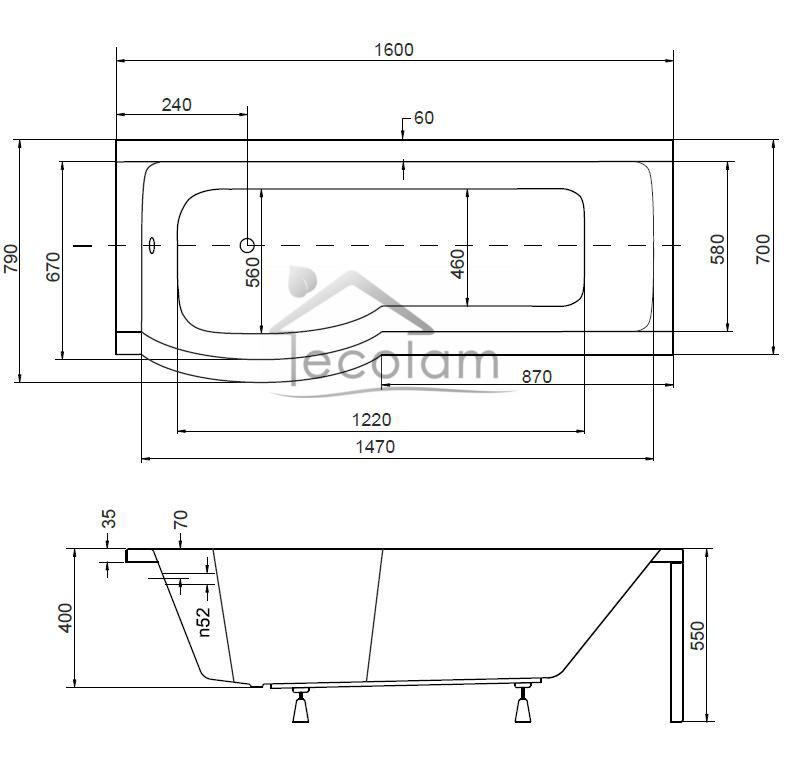 set badewanne badewannenabtrennung duschwand glas eckig rechteck 160x70 cm links ebay. Black Bedroom Furniture Sets. Home Design Ideas