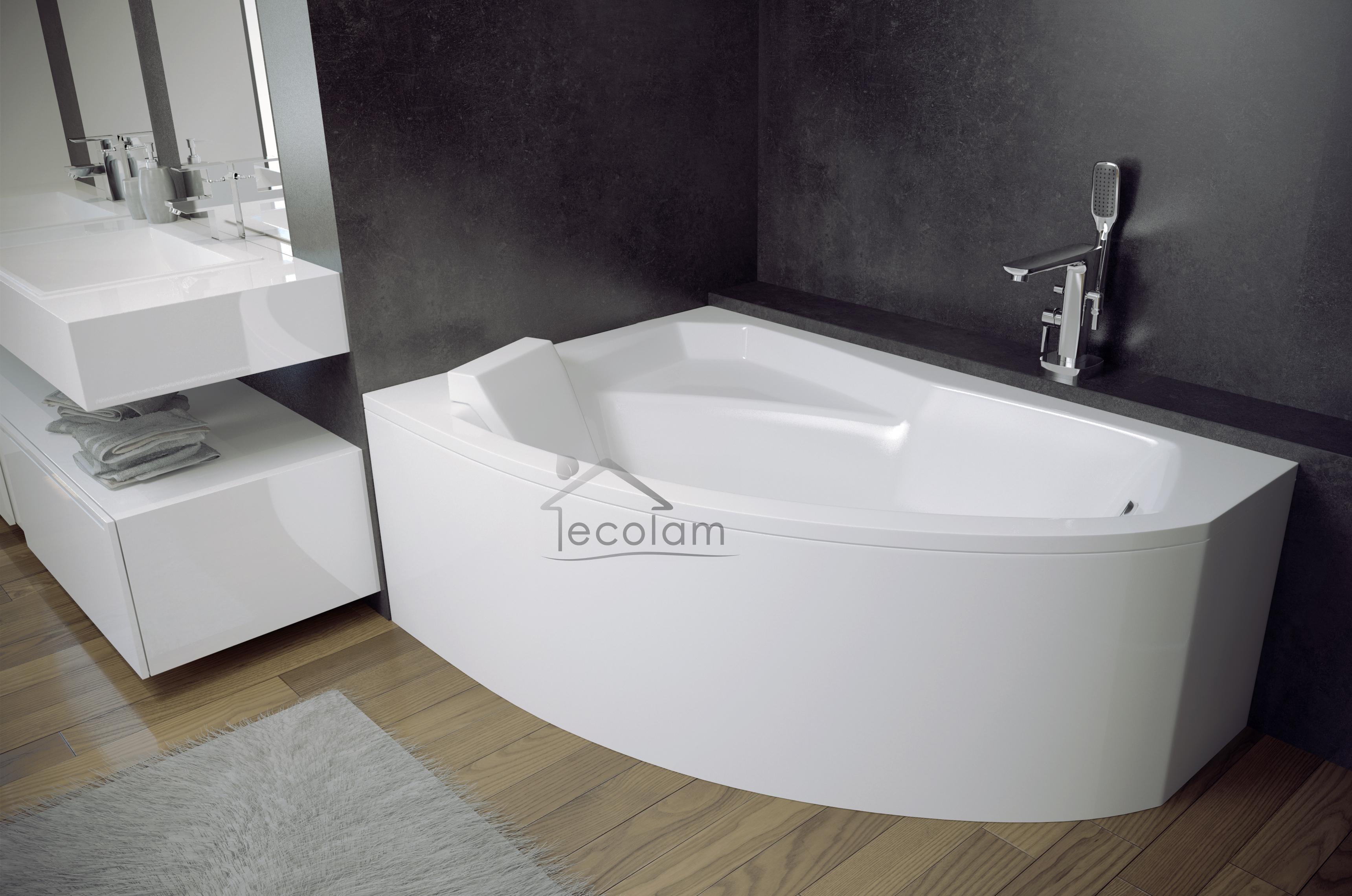 badewanne wanne eckig eckwanne 170 x 110 cm sch rze ablauf. Black Bedroom Furniture Sets. Home Design Ideas